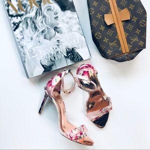 Ted Baker London 'Charv Floral Ankle Strap Sandal'